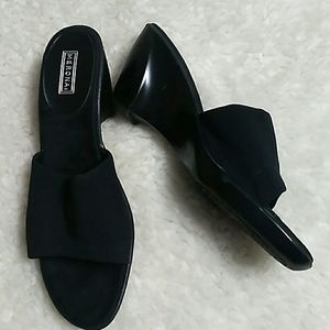 MERONA Platform Black Slip On Shoes